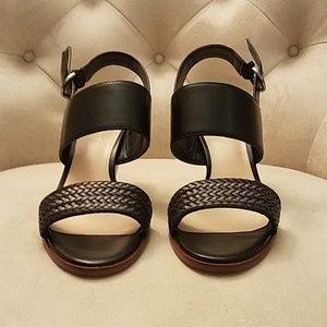 NWT Nine West Black Leather Sandals